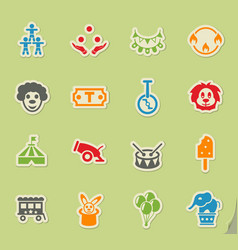 Circus icon set vector