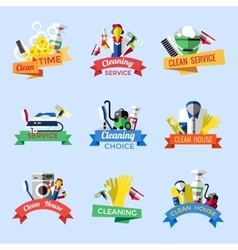 Cleaning Emblem Set vector image vector image