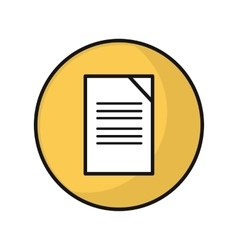 Document icon in flat style design vector