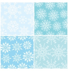 Four winter seamless backgrounds vector image