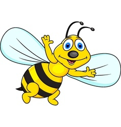 Funny bee cartoon vector image vector image