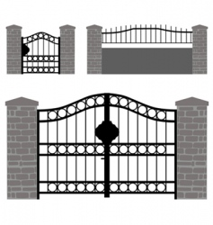 gate doors vector image