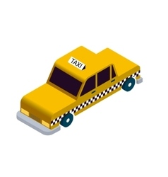 Isometric taxi icon vector image vector image