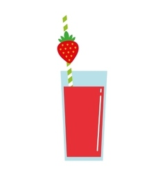 juice fruit glass isolated icon vector image