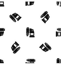 pneumatic hammer machine pattern seamless black vector image