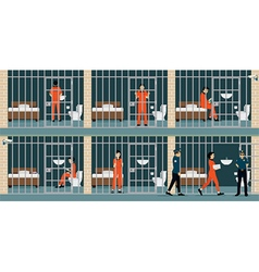 Prison inmates vector
