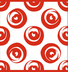 red circle shaped hearts vector image vector image