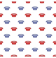 Retro Phone Pattern Silhouette of Old Telephone vector image vector image