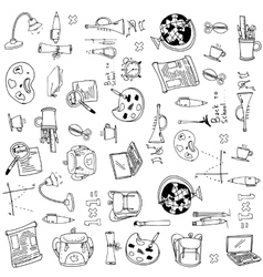 School object big doodles vector