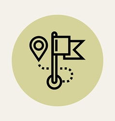 Simple route icon vector
