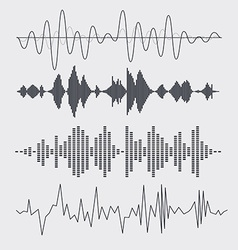 Sound waves set music vector
