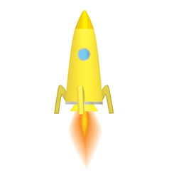 space rocket vector image vector image