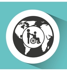 Symbol icon disabled wheel chair vector