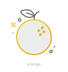 Thin line icons orange vector