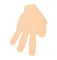 Three fingers icon cartoon style vector image