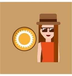Vacation woman sunny summer vector