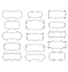 Vintage hand drawn frames set vector image vector image