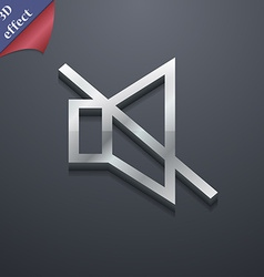 Without sound mute icon symbol 3d style trendy vector