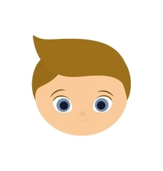 boy kid blond head cartoon icon vector image