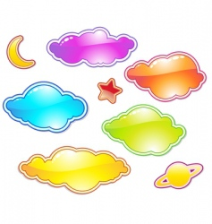 color clouds vector image