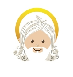 god representation icon image vector image