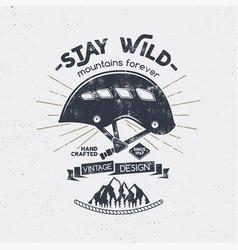 vintage mountaineering badge climbing logo vector image