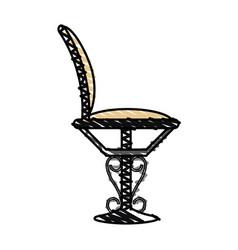color crayon stripe elegant dining chair vector image