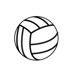 volleyball ball sport play equipment line vector image