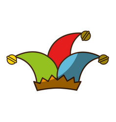 jester hat accesory vector image
