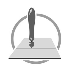 Glass cutting logo vector