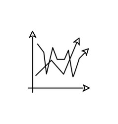 2 line chart icon vector