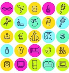 Set of different shop icons vector