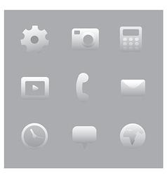 interface icon set vector image