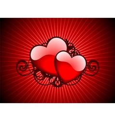lovely hearths vector image