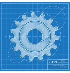 Cogwheel icon eps10 vector