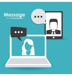 Message online design vector