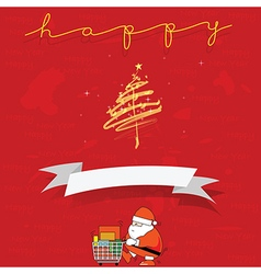 Santa Clause shopping for give out Cristmas and vector image