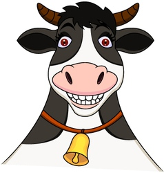 Smiling cow cartoon vector