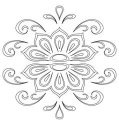 Abstract contour pattern vector image vector image