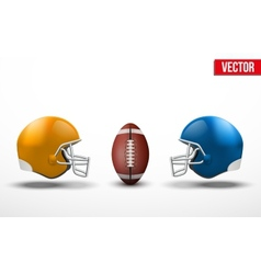 Background of competition in American football vector image