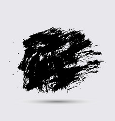 Black paint ink brush strokes brushes lines vector