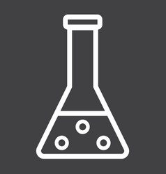 Chemistry line icon laboratory and test tube vector