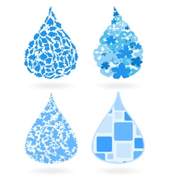 drop of water vector image vector image