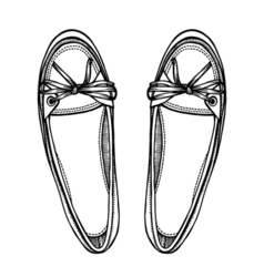 female shoes over white vector image