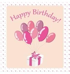 Happy birthday card2 vector