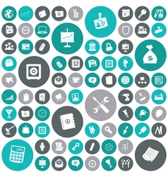icons for business and industrial vector image