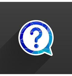 Image question mark icon solution mark symbol vector image
