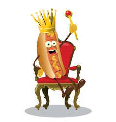 King hot dog vector