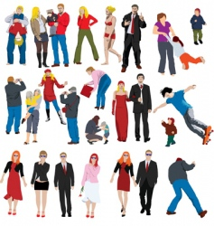 people illustrations vector image vector image