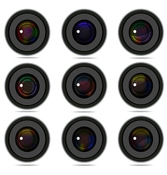 photography camera lens vector image